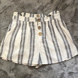 💜High waisted striped shorts